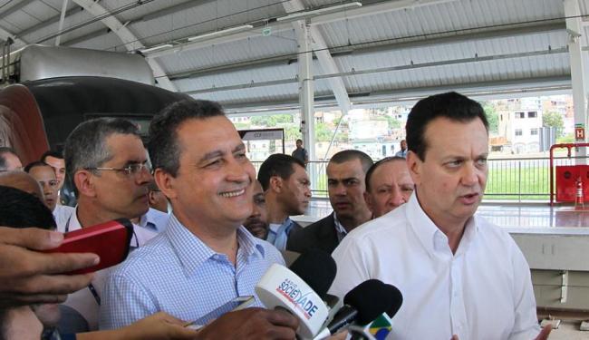 Ministro Gilberto Kassab e governador Rui Costa participaram da cerimônia nesta manhã - Foto: Manu Dias | GOVBa