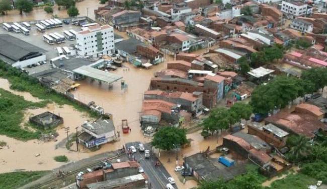 Imagem feita pelo Graer no sobrevoo realizado pelo município no sábado - Foto: Divulação | PMBA/Graer
