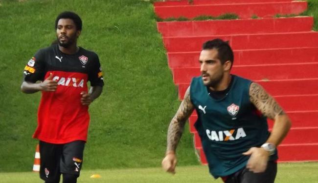 O Vitória volta a treinar nesta segunda, pela manhã, e viaja para Fortaleza na terça - Foto: Divulgação | ECVitória