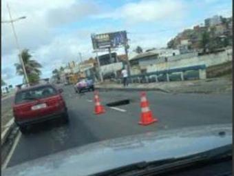 A pista já foi liberada e não há congestionamento na região da orla - Foto: Cidadão Repórter   Via Whatsapp