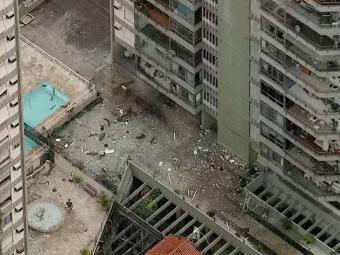 Explosão aconteceu em um apartamento em São Conrado - Foto: Reprodução   TV Globo
