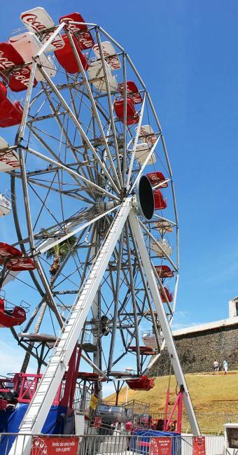 Roda-gigante foi instalada em janeiro deste ano - Foto: Divulgação | Agecom