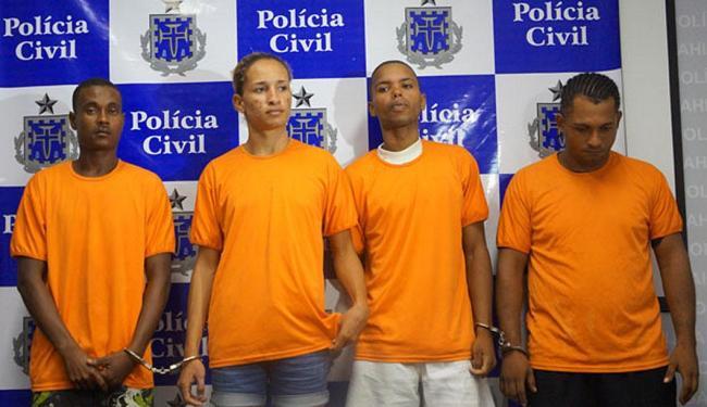 Acusados de envolvimento na morte de Maria Cristina foram apresentados - Foto: Divulgação | Polícia Civil