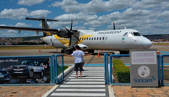 Passageiros informaram que no pouso a aeronave permaneceu inclinada - Foto: Reprodução | Blog do Anderson