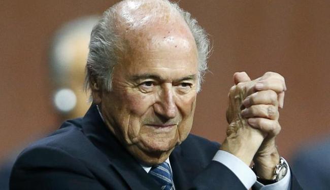 Blatter, 79 anos, estará mais quatro anos à frente da Fifa - Foto: Arnd Wiegmann | Ag. Reuters
