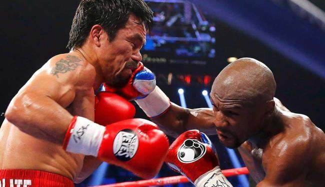 Mayweather permaneceu invicto depois de 48 combates, enquanto Pacquiao teve a 6ª derrota da carreira - Foto: Steve Marcus | Agência Reuters