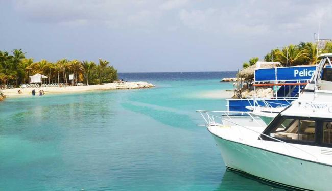 Enseada perto do Sea Aquarium, em Curaçao - Foto: Eduardo Bastos | Ag. A TARDE
