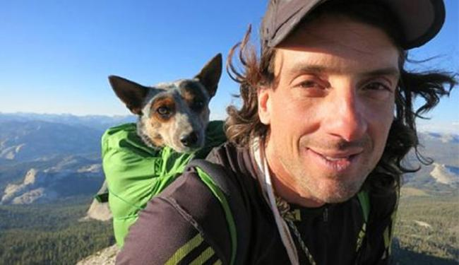 Dean Potter ficou conhecido por saltar de base jump com a sua cadela - Foto: Reprodução l Instagram