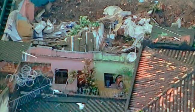 Deslizamento teria atingido seis casas na ladeira da Montanha - Foto: Reprodução | TV Record