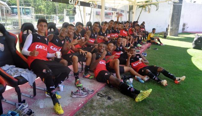 Elenco sub-17 está preparado para enfrentar o Flamengo e pode até perder no Barradão - Foto: Matheus Setenta | EC Vitória | Divulgação