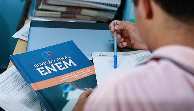 A nota do Enem é usada como seleção de alunos de 115 instituições públicas de ensino - Foto: Joá Souza | Ag. A TARDE
