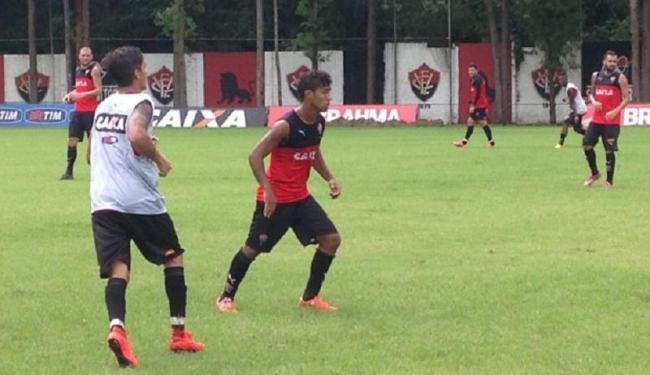 Vitória treinou pela manhã e, no início da tarde, seguiu para Alagoas - Foto: Divulgação   E.C. Vitória