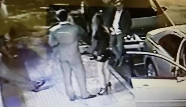 Fernanda discutia com o empresário (E) quando foi agredida - Foto: Reprodução
