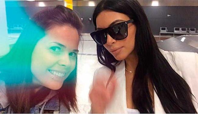 Kim Kardashian parou para fazer uma