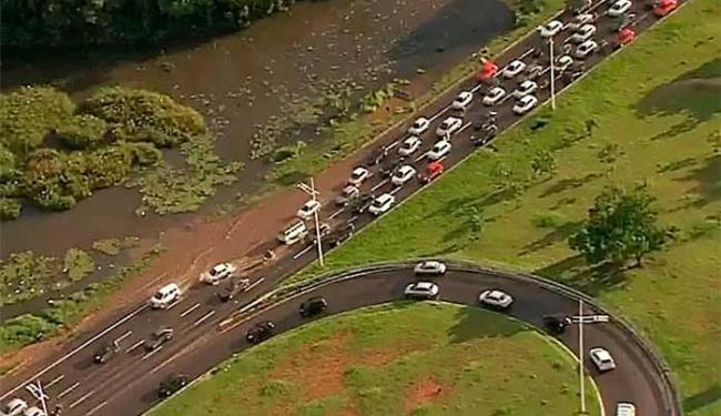 Lagoa já havia transbordado nesta quarta, 20 - Foto: Imagens | TV Bahia