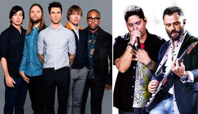 Maroon 5 e Jorge e Mateus são os mais ouvidos pelos soteropolitanos - Foto: Divulgação
