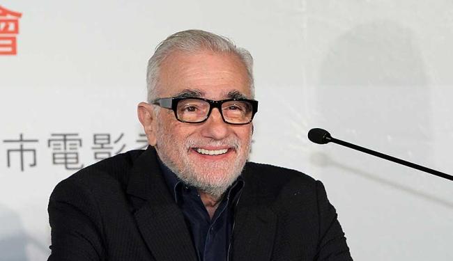 Martin Scorsese em coletiva de imprensa de seu novo filme,