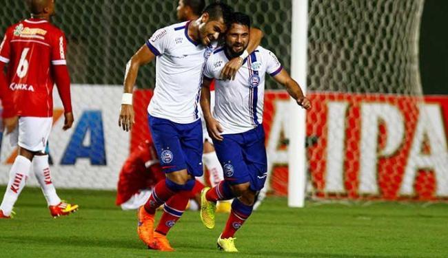 Máxi comemora primeiro gol do Bahia na partida - Foto: Eduardo Martins   Ag. A TARDE