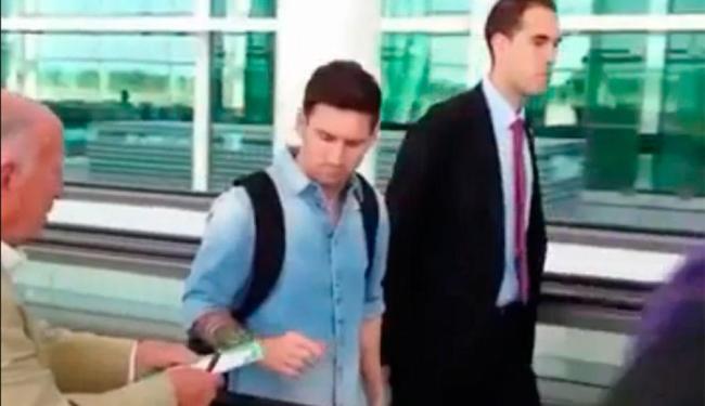 Messi não atende pedido de autógrafo feito por idoso - Foto: Reprodução | Vine
