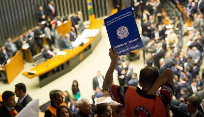 Centrais sindicais acompanham votação na Câmara dos Deputados - Foto: Marcelo Camargo   Agência Brasil