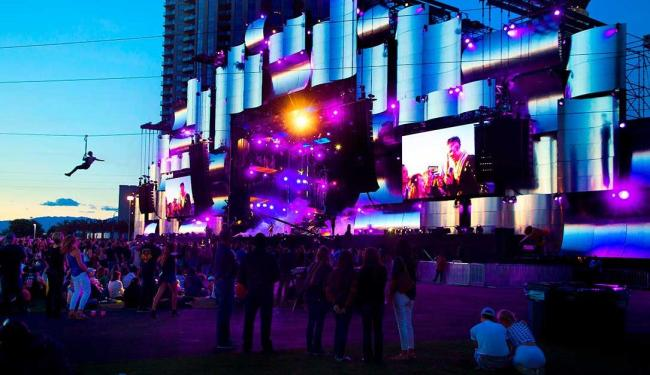 Palco principal durante o último dia do Rock in Rio - Las Vegas - Foto: LE Baskow | Agência Reuters
