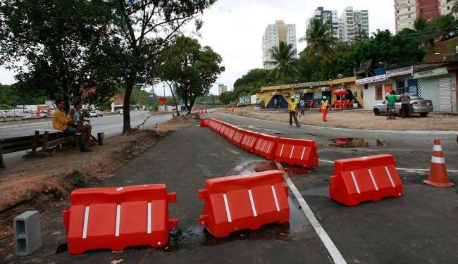 Em abril, parte da via também foi interditada devido às obras da linha 2; foto - Foto: Margarida Neide | Ag. A TARDE