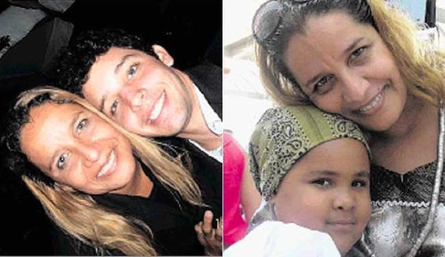 Sarajane e dois dos cinco filhos dela, João Rafael e Sara - Foto: Divulgação