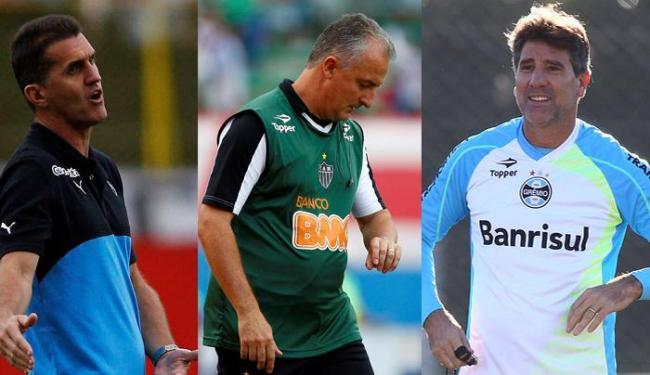 Vagner Macini, Dorival Júnior e Renato Gaúcho - Foto: Eduardo Martins e Lucas Uebel