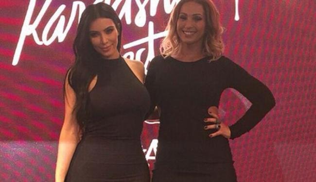 Valesca tirou foto com Kim Kardashian - Foto: Reprodução   Instagram