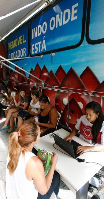 Hemóvel estará na terça, 9, e quarta, 10, na entrada principal do Salvador Shopping - Foto: Eduardo Martins | Ag. A TARDE