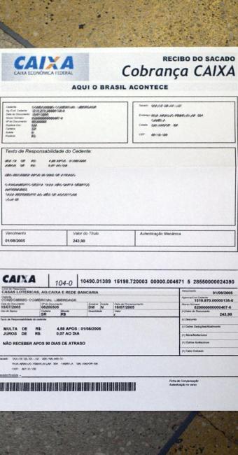 Cliente deve ficar atento a dados disponíveis no boleto - Foto: Edson Ruiz   Ag. A TARDE   20.09.2005