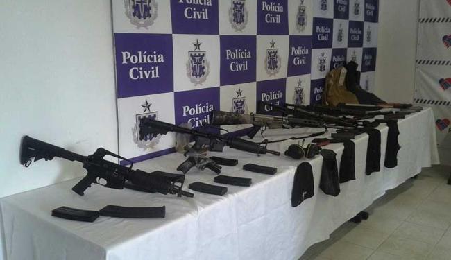 Armas foram encontradas enterradas em fazenda em Mulungu do Morro - Foto: Ascom   Polícia Civil