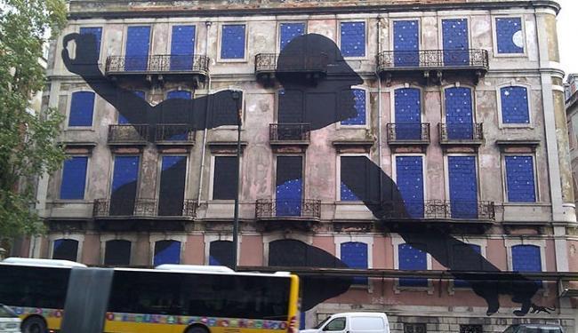 O número de paredes e muros de Lisboa com essas obras é cada vez maior - Foto: Reprodução | Rachel Dixon | Guardian