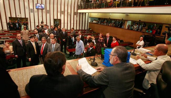 Sessões da Assembleia analisaram poucos projetos enviados pelo governador Rui Costa - Foto: Luciano da Matta | Ag. A TARDE | 01.02.2015