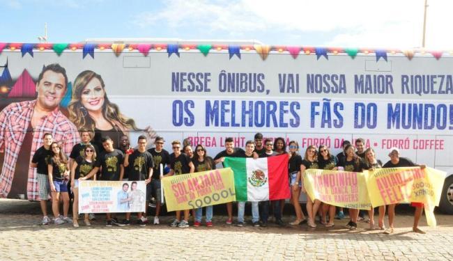 Aviões do Forró reuniu diversos fãs que foram sorteados no Facebook - Foto: Divulgação
