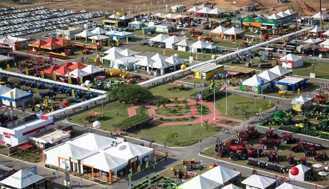 Imagem aérea do local onde é realizado o evento: feira deve atrair 75 mil visitantes - Foto: Divulgação | Aiba