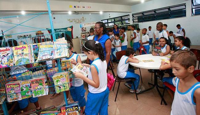 Biblioteca Monteiro Lobato: espaço é uma das maneiras de desenvolver formas de entender o mundo - Foto: Margarida Neide l Ag. A TARDE l 17.04.2015