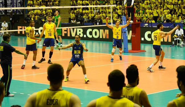 O Brasil venceu a Austrália por 3 sets a 0, com parciais de 31/29, 25/19 e 25/19 - Foto: Alexandre Arruda | CBV | Divulgação