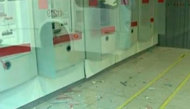 Vidros ficaram intactos apesar da explosão no equipamento - Foto: Reprodução   TV Bahia