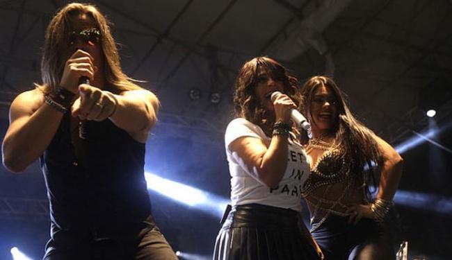 A banda Calcinha Preta se apresentou no Terreiro de Jesus nesta segunda-feira - Foto: Elói Corrêa | GovBA