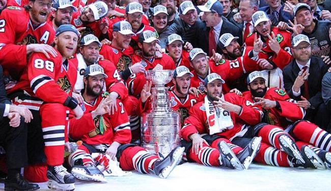 Esse foi o terceiro título da equipe de Chicago nos últimos seis anos - Foto: Dennis Wierzbicki l Reuters