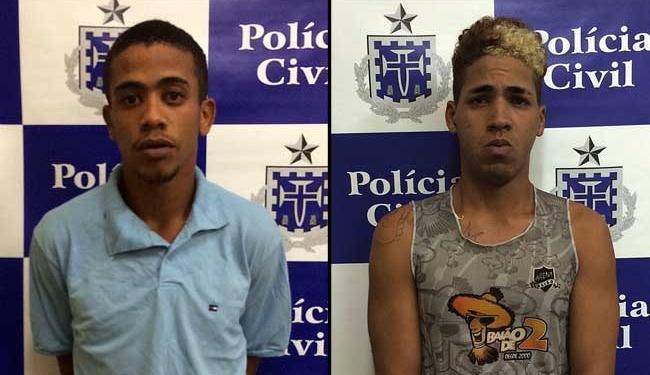 Jefferson e Romário atacaram as jovens em um terreno abnadonado - Foto: Ascom | Polícia Civil