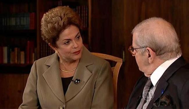 Entrevista com Dilma foi exibida na madrugada deste sábado - Foto: Reprodução | TV Globo