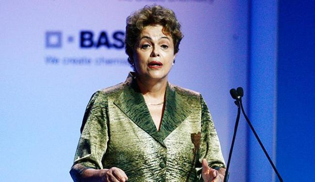 Dilma passou mensagem de otimismo ao discursar durante inauguração de fábrica - Foto: Lúcio Távora   Ag. A TARDE