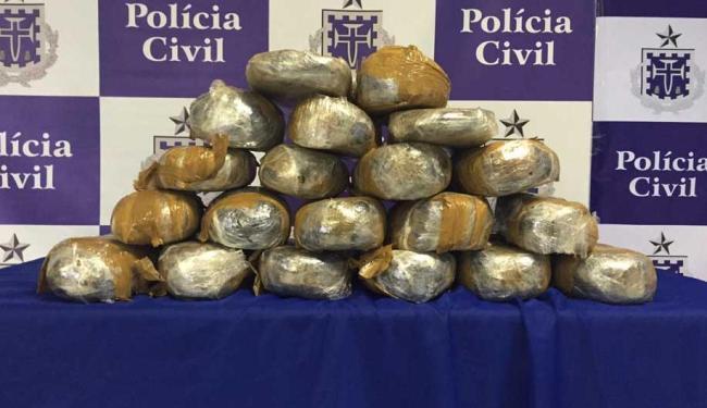 Droga foi encontrada no sítio do suspetio - Foto: Ascom   Polícia Civil