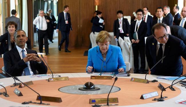 Barack Obama, Angela Merkel e François Hollande participam da cúpula - Foto: Agência Reuters