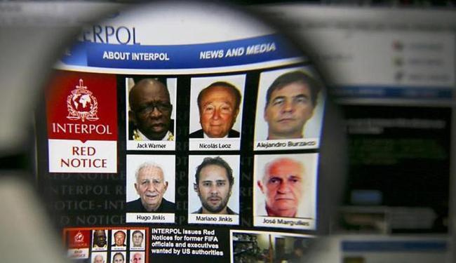 Alerta emitido pela Interpol em seu site - Foto: Ag. Reuters