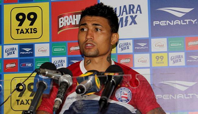 Atacante já está recuperado de lesão e pode atuar no sábado, contra o Ceará - Foto: Felipe Oiliveira l Divulgação l E.C. Bahia