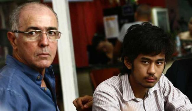 Kim Kataguiri e o deputado federal José Carlos Aleluia durante café da manhã - Foto: Marco Aurélio Martins   Ag. A TARDE