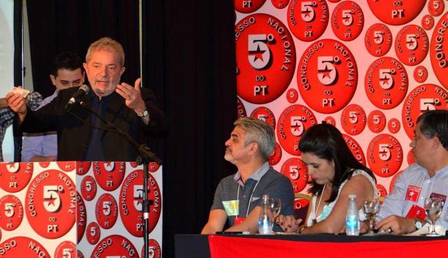 Ex-presidente durante o 5º congresso do PT - Foto: Erik Salles   Ag. A TARDE